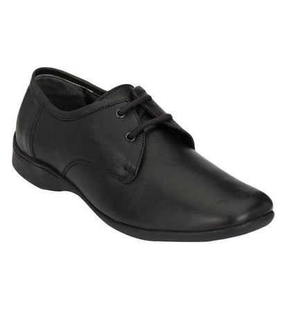 Black Color Leather Men's Formal Shoes - 7396_BLACK