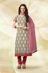 Grey Color Chanderi Silk Salwars
