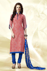 Peach Color Chanderi Silk Salwars