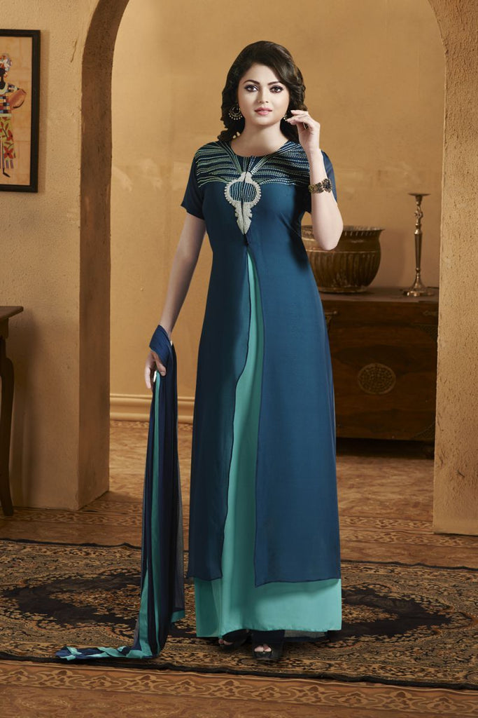 Blue Color Georgette Salwars