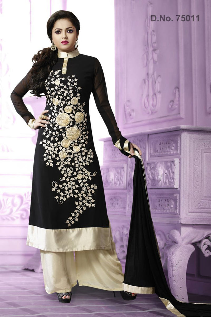 Black Color Georgette Salwars