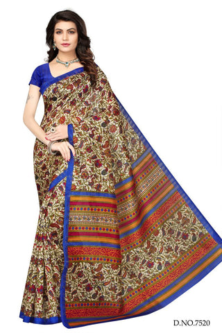 Multi Color Bhagalpuri Sarees - 7520