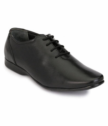 Black Color Leather Men's Formal Shoes - 7641_BLACK