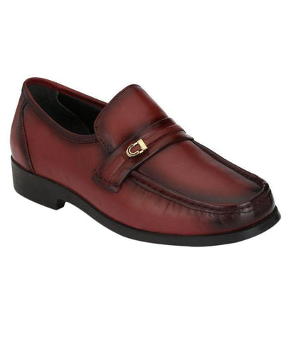 Bordo Color Leather Men's Formal Shoes - 7676_BORDO
