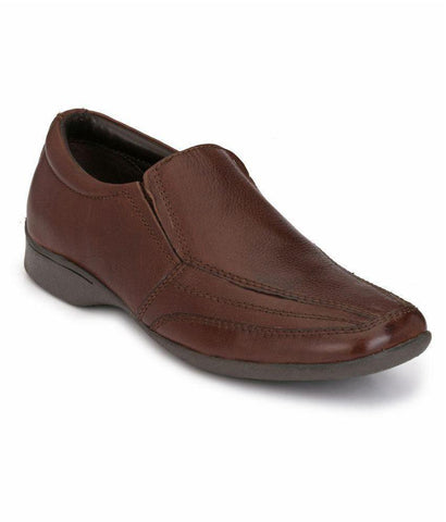 Brown Color Leather Men's Formal Shoes - 7713_BROWN