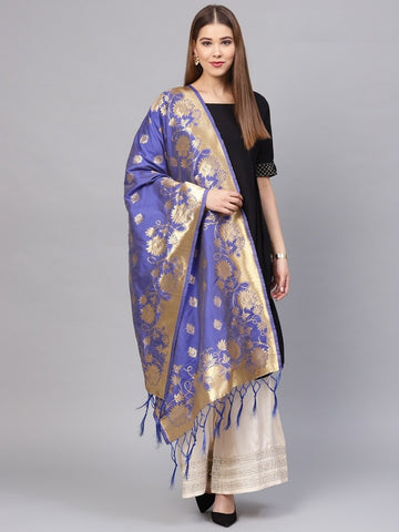 Blue Color Banarasi Silk Women's Dupatta - 77848