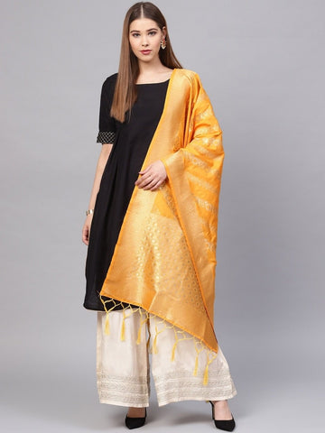 Yellow Color Banarasi Silk Women's Dupatta - 77862
