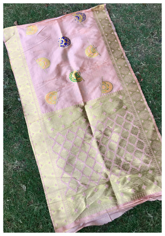 Pink Color Banarasi Silk Women's Dupatta - 77866