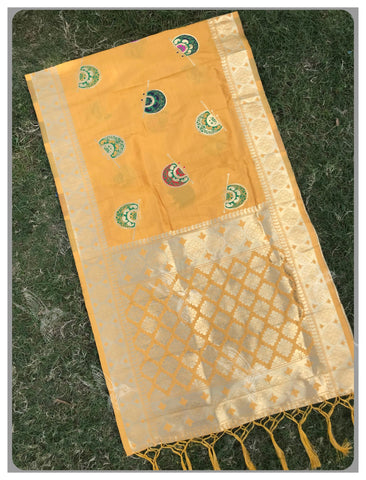 Yellow Color Banarasi Silk Women's Dupatta - 77868