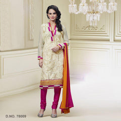 Cream Color Art Silk Salwars