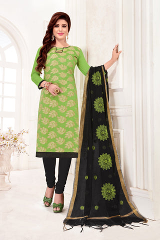 Light Green Color Banarasi Jacquard Women's Un-Stitched Salwar Suit - 78245