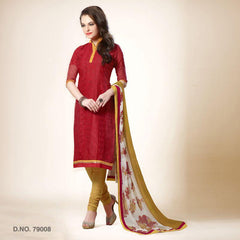 Red Color Chanderi Silk Salwars