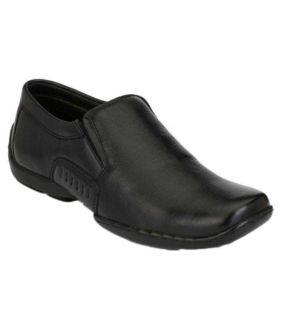 Black Color Leather Men's Formal Shoes - 7929_BLACK