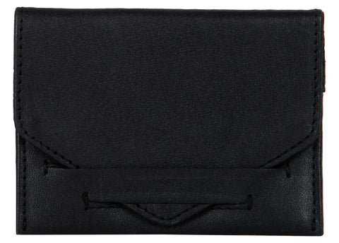 Black Color Leather Womens wallet - 80-BLACK