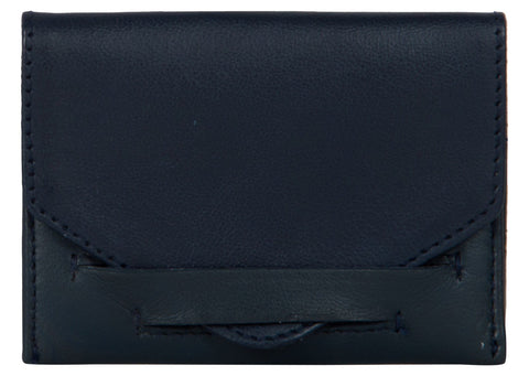 Blue Color Leather Womens wallet - 80-BLUE