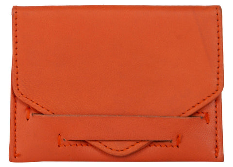 Orange Color Leather Womens wallet - 80-ORANGE