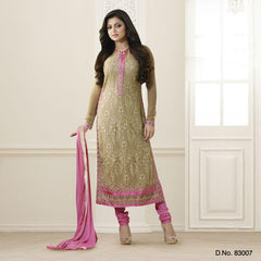 Gold and Beige Color Chiffon Salwars
