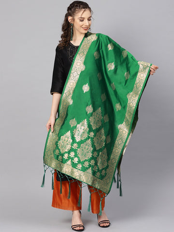 Green Color Banarasi Silk Women's Dupatta - 84668