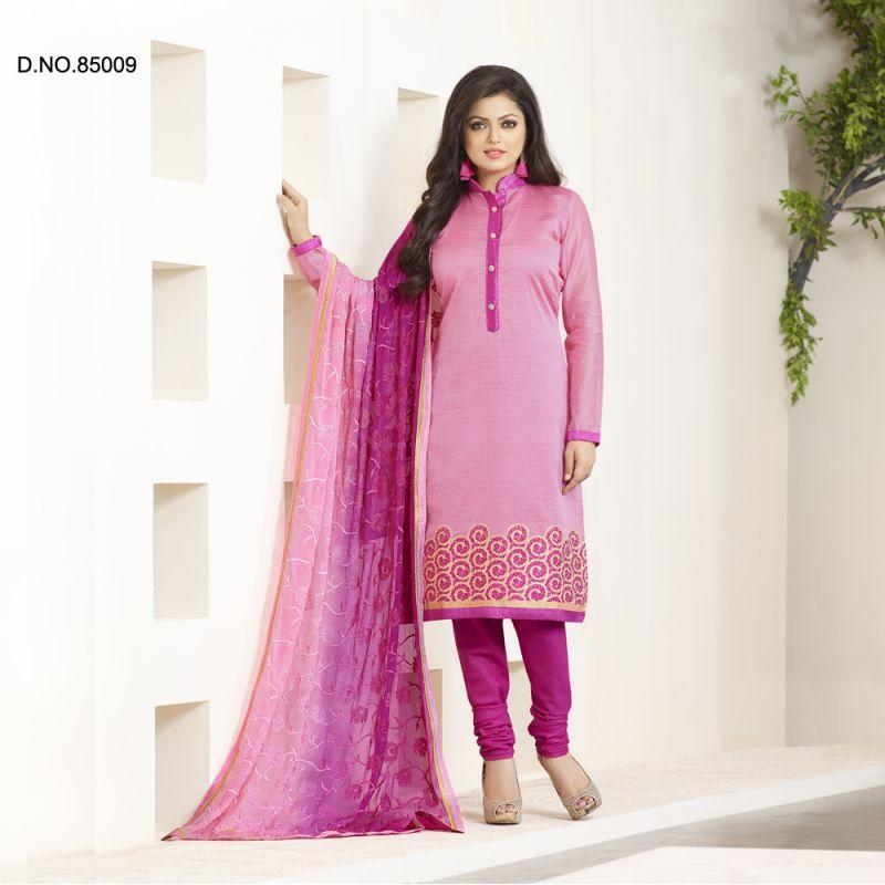 Pink Color Chanderi Salwars