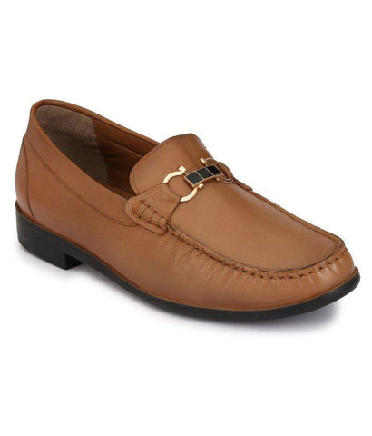 Tan Color Leather Men's Formal Shoes - 8560_TAN