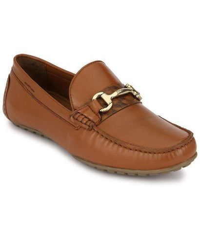 Tan Color Leather Men's Loafers - 8624_Tan