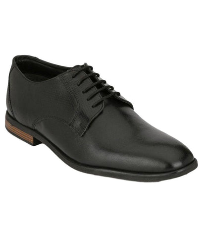 Black Color Leather Men's Formal Shoes - 8709_BLACK