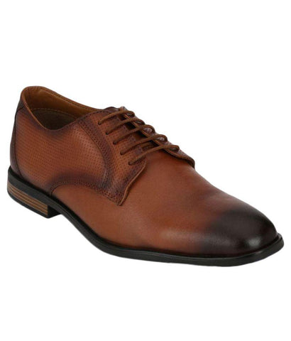 Tan Color Leather Men's Formal Shoes - 8709_TAN