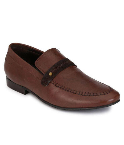 Brown Color Leather Men's Formal Shoes - 8729_BROWN