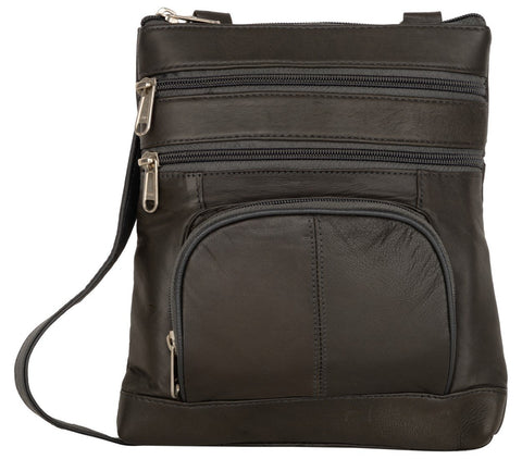 Black Color Leather Women Cross Body Bag - 876Black