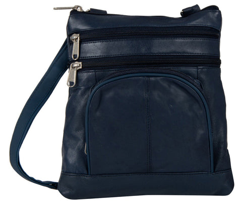 Dark Blue Color Leather Women Cross Body Bag - 876DBlue