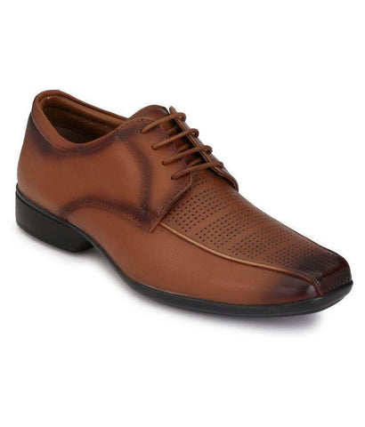 Tan Color Leather Men's Formal Shoes - 8835_TAN