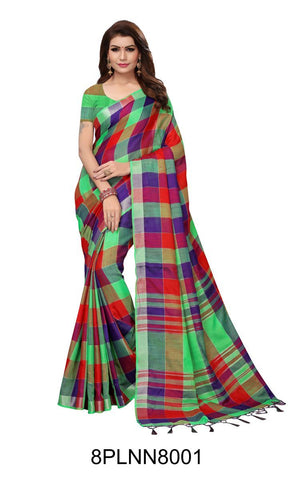Multi Color Pure Linen Saree - 8PLNN8001