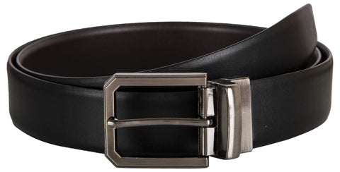 Black Color Leather Mens Belt - 9-320