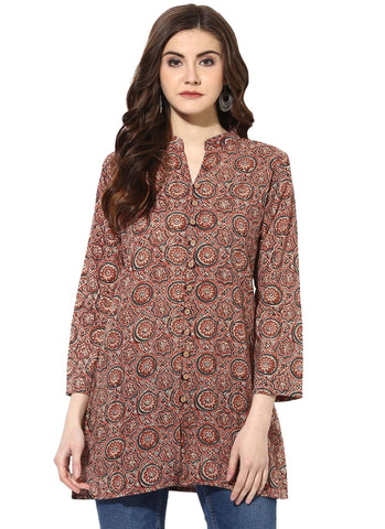 Mauve Color Cotton Stitched Kurti - 9000486-MAUVE