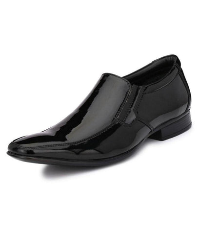 Black Color Leather Men's Formal Shoes - 9022_BLACK