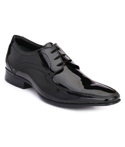 Black Color Leather Men's Formal Shoes - 9024_BLACK