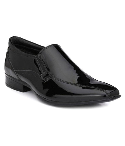 Black Color Leather Men's Formal Shoes - 9026_BLACK