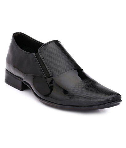 Black Color Leather Men's Formal Shoes - 9030_BLACK