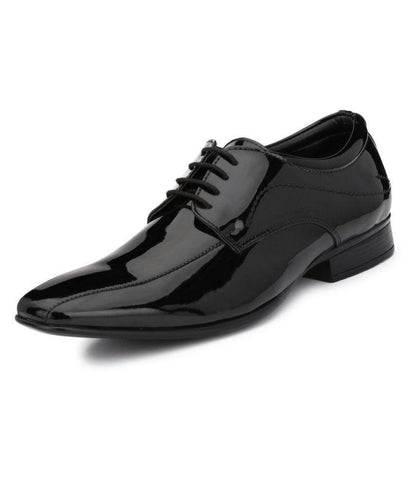 Black Color Leather Men's Formal Shoes - 9035_BLACK