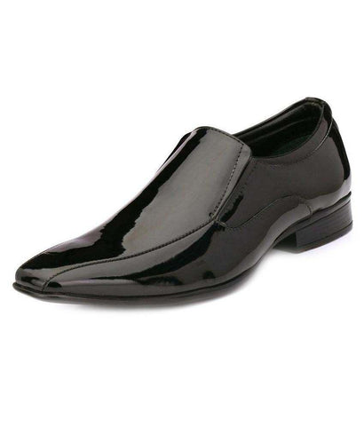 Black Color Leather Men's Formal Shoes - 9036_BLACK