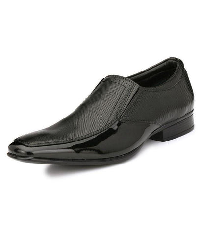 Black Color Leather Men's Formal Shoes - 9037_BLACK