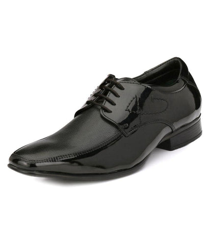 Black Color Leather Men's Formal Shoes - 9044_BLACK