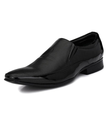 Black Color Leather Men's Formal Shoes - 9045_BLACK