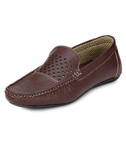 Brown Color Synthetic Men's Loafers - 9063_Brown