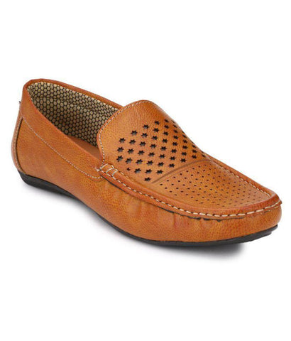 Tan Color Synthetic Men's Loafers - 9063_Tan