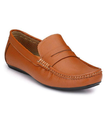 Tan Color Synthetic Men's Loafers - 9081_Tan