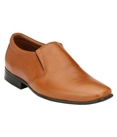 Tan Color Leather Men's Formal Shoes - 9089_TAN