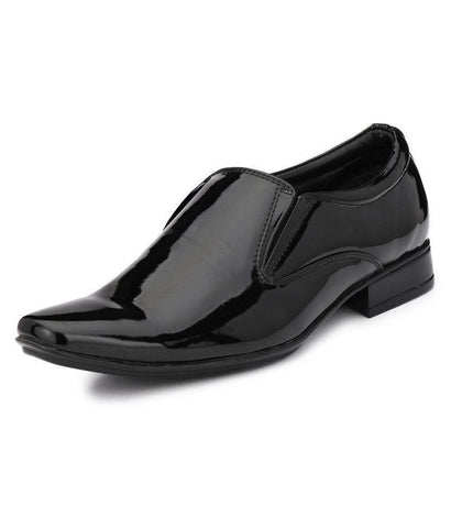 Black Color Leather Men's Formal Shoes - 9090_BLACK