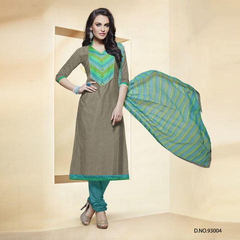 Grey Color Chanderi Silk Un Stitched Salwars - 93004
