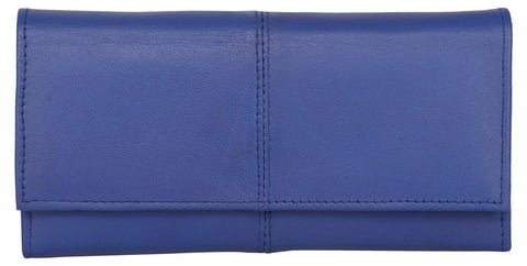 Blue Color Leather Womens Wallet - 941BLUE